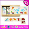 2015 Popular Traditional Mini Wooden Domino with Box, Small Wooden Domino Game Set Toy, Kid Wooden Domino for Promotional W15A031b