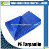 PE Tarpaulin Blue HDPE Woven Fabrics Both Side LDPE Laminated 100% New Material PE Tarpaulin