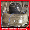 Granite Ball with Rust Granite Base of Stone Ball Fountain
