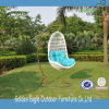 Popular White PE Rattan Hanging Chair Wicker Swing