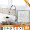 Kitchen and Bathroom White Color Golden Line Glass Mosaics (H420061)
