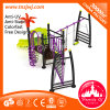 Purple Steel School Facilities Playground Children Outdoor Slide