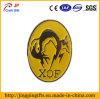 Custom Fox Logo Yellow Paint Metal Lapel Pin