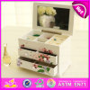 2016 Bew Wood Toy Jewellery Box, Jewellery Box for Kids, Toy Mirror Wooden Jewellery Box, Fashion Jewellery Wooden Box W09e018