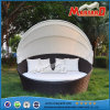Hot Sale Rattan Wicker Round Daybed Sofa Manufactured in China Rattan Sunbed Foshan Furniture