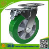Total Brake Swivel Heavy Duty Castor Polyurethane Wheel