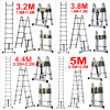 3.2m 3.8m 4.4m 5m Multi-Purpose Telescopic Folding a-Frame Extension Ladder