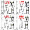 3.2m 3.8m 4.4m 5m Multi-Purpose Telescopic Folding a-Frame Extension Ladder