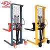 1t Hand Forklift Manual Stacker Lifting Height 1.6m