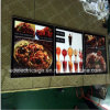 Wall Mounted Price List Advertising Display LED Light Box for Restaurant