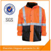Star Sg High Visibility 100%Polyester PU Reflective Safety Waterproof Jacket with En471 Standard