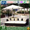 Garden Sun Lounge Patio Wicker Furniture Sets with Cushion