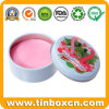 Cosmetic Round Metal Tin Case for Skin Care Salve