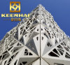 Commercial Building Aluminum Laser Cut Curtain Wall Cladding Paneling