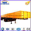 4 Axles 60t Side Wall Flatbed Truck Semitrailer for Africa