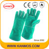 Green Cowhide Split Leather Industrial Safety Welding Work Gloves (111031)