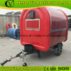 Europe popular full red food trailer with CE certification