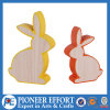 Wooden Bunny Shaped Table Decor for Holiday or Home Decor