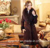 Free Shipping Fur One Piece Female 2014 Medium-Long Genuine Leather Clothing Fur Coat Women Overcoat