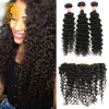 "13""*4"" Ear to Ear Lace Frontal Closure with 2/3 Bundles Cheap Kinky Curly Virgin Hair with Frontal Closure with Baby Hair"