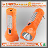 Rechargeable 1W LED Flashlight with 12PCS LED Study Lamp (SH-1912)