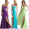 One Shoulder Chiffon Long Discount Prom Dresses (DS011)