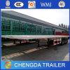 3-Axles 40ft Container Flat Bed Truck Trailer for Sale