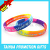Custom Printing Embossed Silicone Bracelet with Promotion Gift (TH-08836)