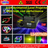 1W RGB 10kpss Ilda Animation Stage Laser Light for KTV/Clubs/Party