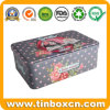 Rectangular Custom Biscuit Storage Tin for Birthday Festival Valentine Gifts