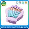 2017 Popular Free Sample 10PCS Shell Shape Nylon Makeup Brush Set
