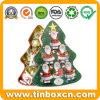 Heidel Christmas Tree Chocolates Tin for Metal Gift Box Packing