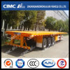 Cimc Huajun 14m Heavy-Duty Flatbed Semi Trailer with 80tons Capacity