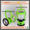 Portable Solar LED Light for Camping with 1W Flashlight (SH-1972)