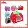 Short Plush Strawberry Shape Double Use Pet House in Red