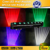 High Power 8 X 10W RGBW 4 in 1 / White LED Moving Head Beam Wall Washer Lights