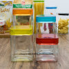 Factory Wholesale Bottle Transparent Square Elegant Storage Glass Jar (100083)