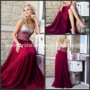 Wine Crystals Fashion Evening Dress Vestidos Party Prom Gowns Ld1157