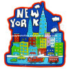 City View 3D PVC Magnet of New York Souvenir Magnets