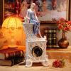 Porcelain Convex Dial Shelf Mantle Cabinet Clock S2033