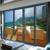 Wood Skin Printed Insulating Glass Aluminium Swing Door (FT-D126)