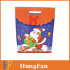 Custom Printed Christmas Paper Shopping Gift Bag with Diecut Handle