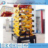 Electric Lifting Equipment Portable Hydraulic Towable Scissor Lift with Platforms