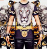 Animal Sublimation Printing 3D T-Shirt for Men, Lion 3D Print