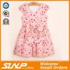 High Quality Girls Flowers Dress Sleeveless Children Clothes