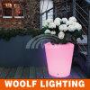 Custom Outdoor Glowing LED Plastic Flower Vase