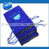 Sapphire Jewellery with Black Satin Lining Custom Logo Velvet Pouch (e-052)