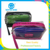 Transparent PVC Waterproof Stripes Fabric Sets Cosmetic Bag