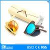 New Vintage Style Foldable Mini Polarized Bamboo Sunglasses with Case