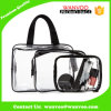 3 Size Clear Transparent PVC Fashion Waterproof Travel Toiletry Wash Cosmetic Bag with Zip